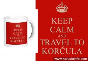 Keep Calm and Travel to Korcula Mug