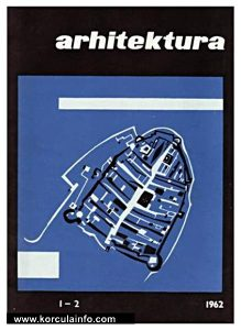 Korcula map @ Arhitektura Book Cover from 1962
