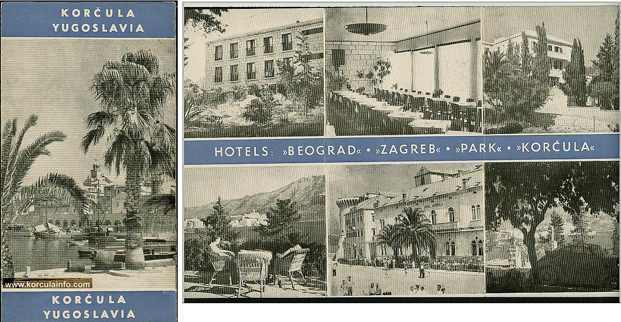 Brochure of Korcula Hotels from 1950s