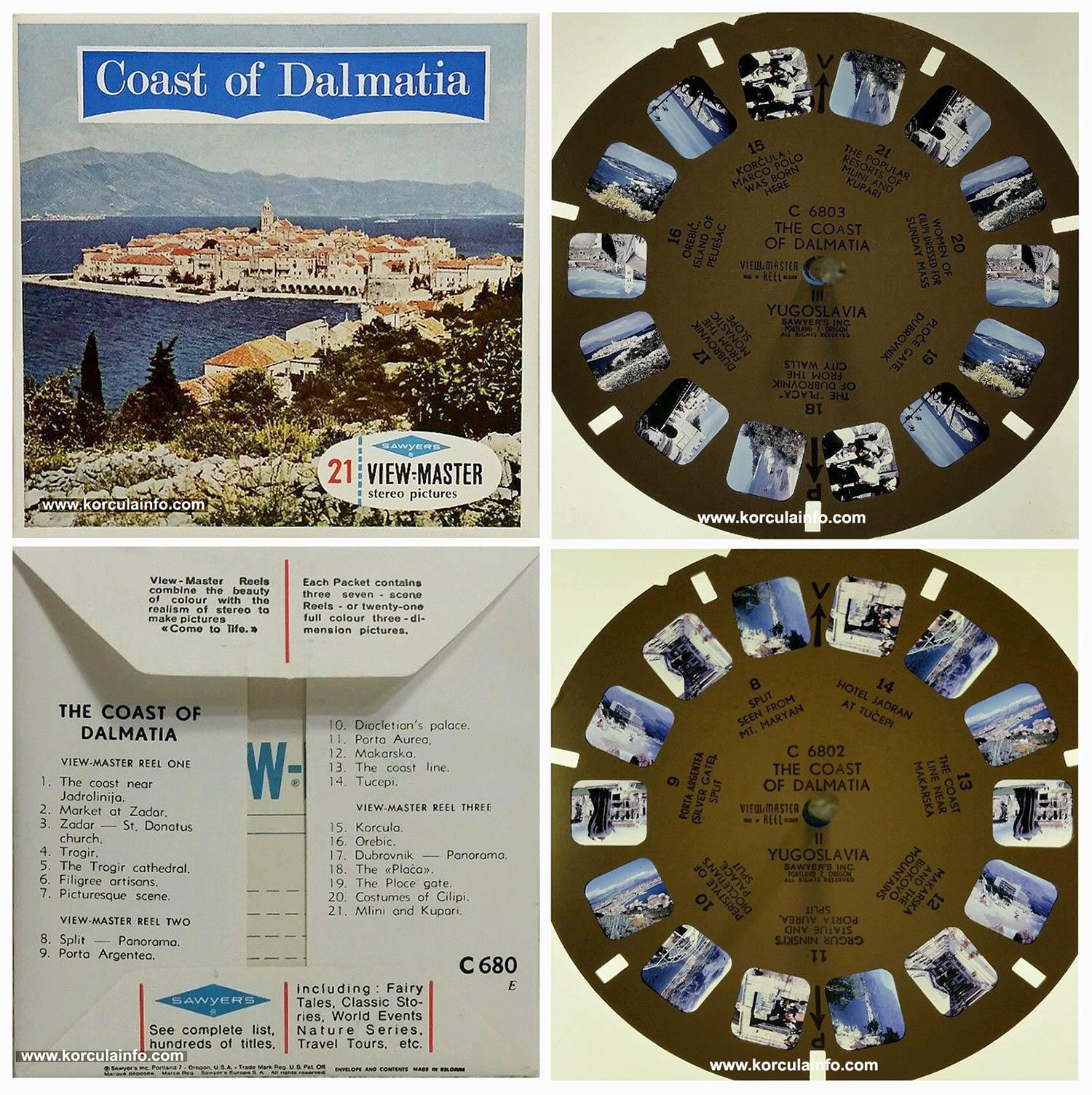 Korcula @ The Coast of Dalmatia stereoscopic Sawyer's View-Master reel