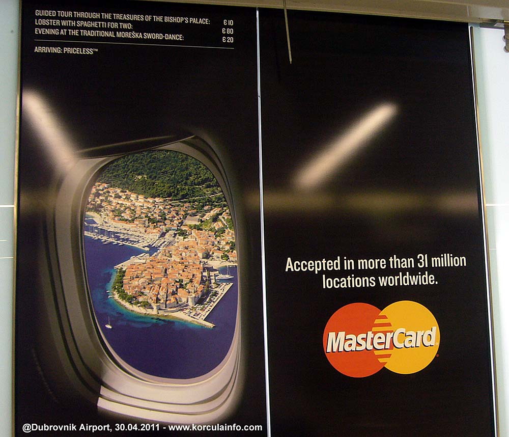Korcula Town image on Mastercard Advert