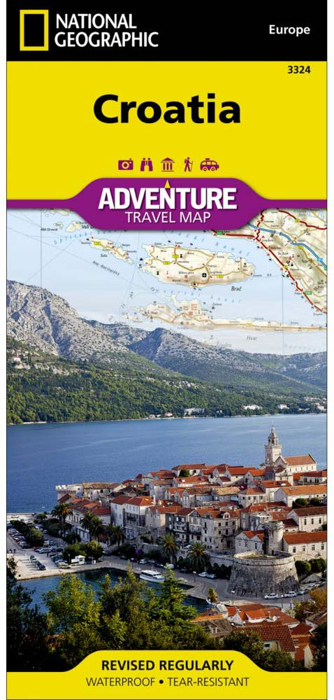 Korcula on National Geographic's Croatia Map cover