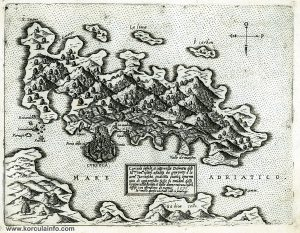 Map of Curzola (1571)