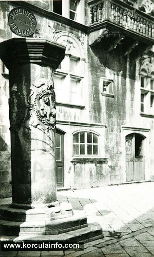 Pillar at Trg Svetog Marka, 1940s