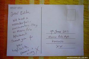 Tourist Feedback Postcard