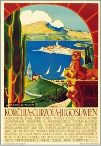 Poster Korcula from 1930's
