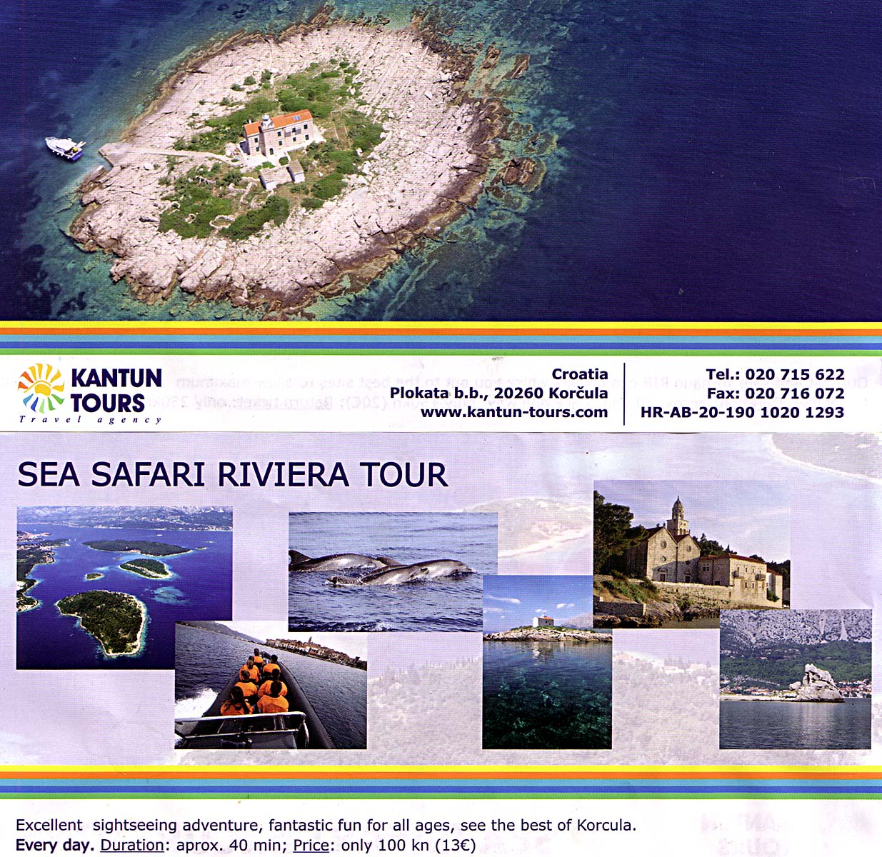 Sea Safari Riviera Tour around Korcula Archipelago