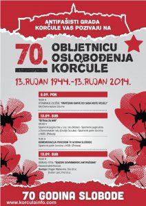 Poster: 70 godina Oslobodjenja Korcule 13.09.2014