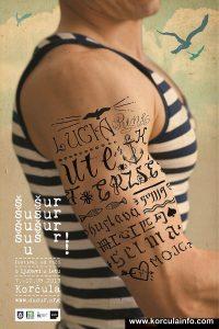 Šušur – Festival od Riči (Festival of Words) Poster 2013 - male version