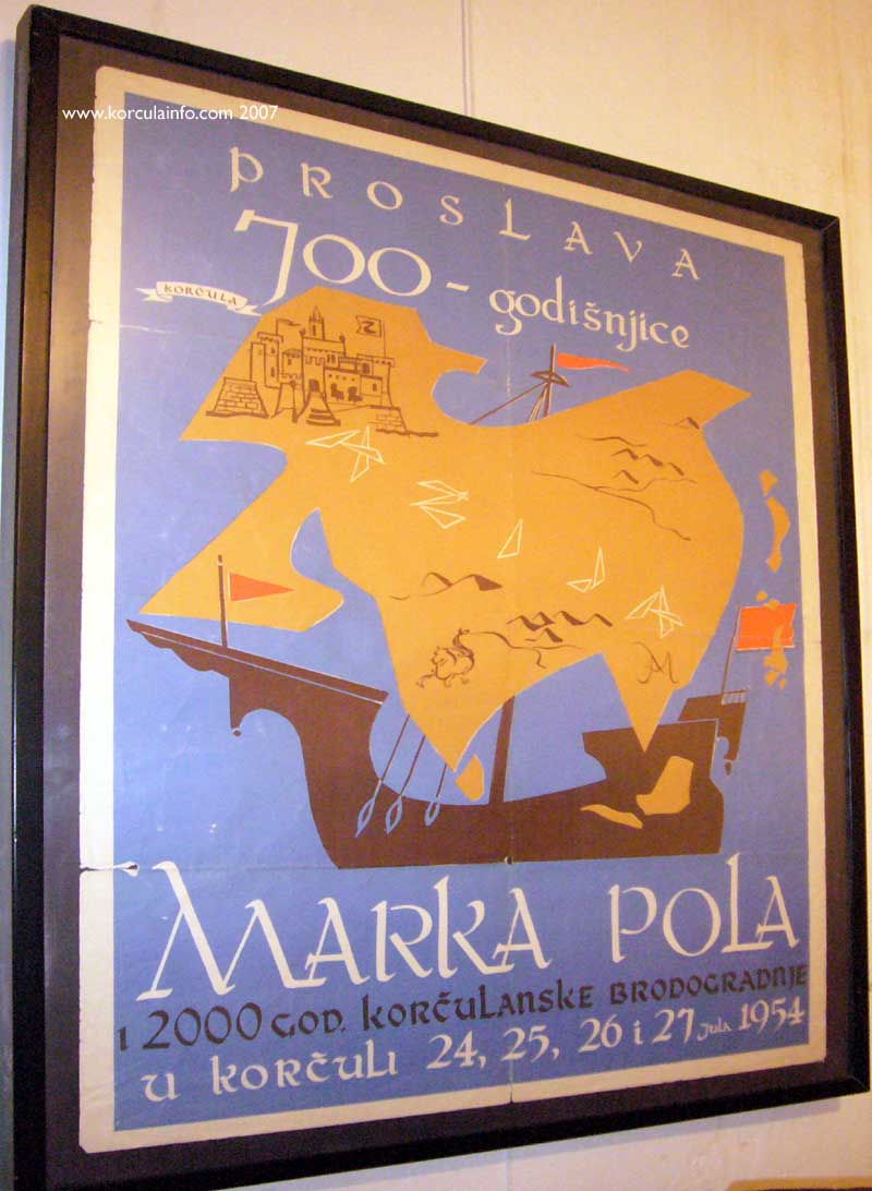 Korcula Poster - 700 years of Marco Polo and 2000 Years of Korcula's Shipbuilding