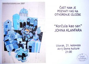 Poster of John Klanfar Exhibition