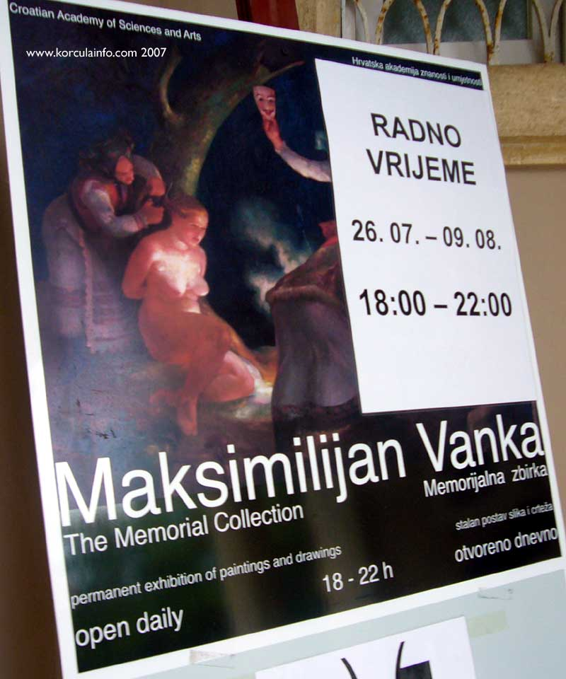 Poster of Maximilian Vanka Gallery in Korcula