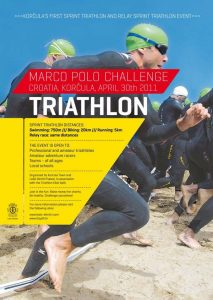 Marco Polo Challenge 2011- SPRINT triathlon Poster