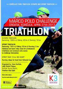 Marco Polo Challenge 2013- SPRINT triathlon Poster