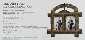 Prešućeni rat Exhibition Poster