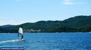 Windsurfing in Korcula waters