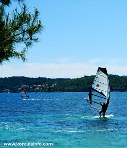 Windsurfer at Kuciste beach