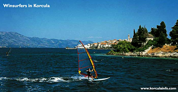 Windsurfing around Korcula - Korculainfo com