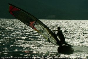 Windsurfer and shadows