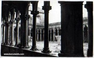 The row of columns around the Cloister, Badija