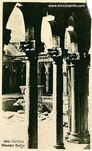 Pillars of the cloister - Badija