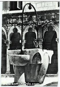 The water well in cloister of the Franciscan Monastery on Badija