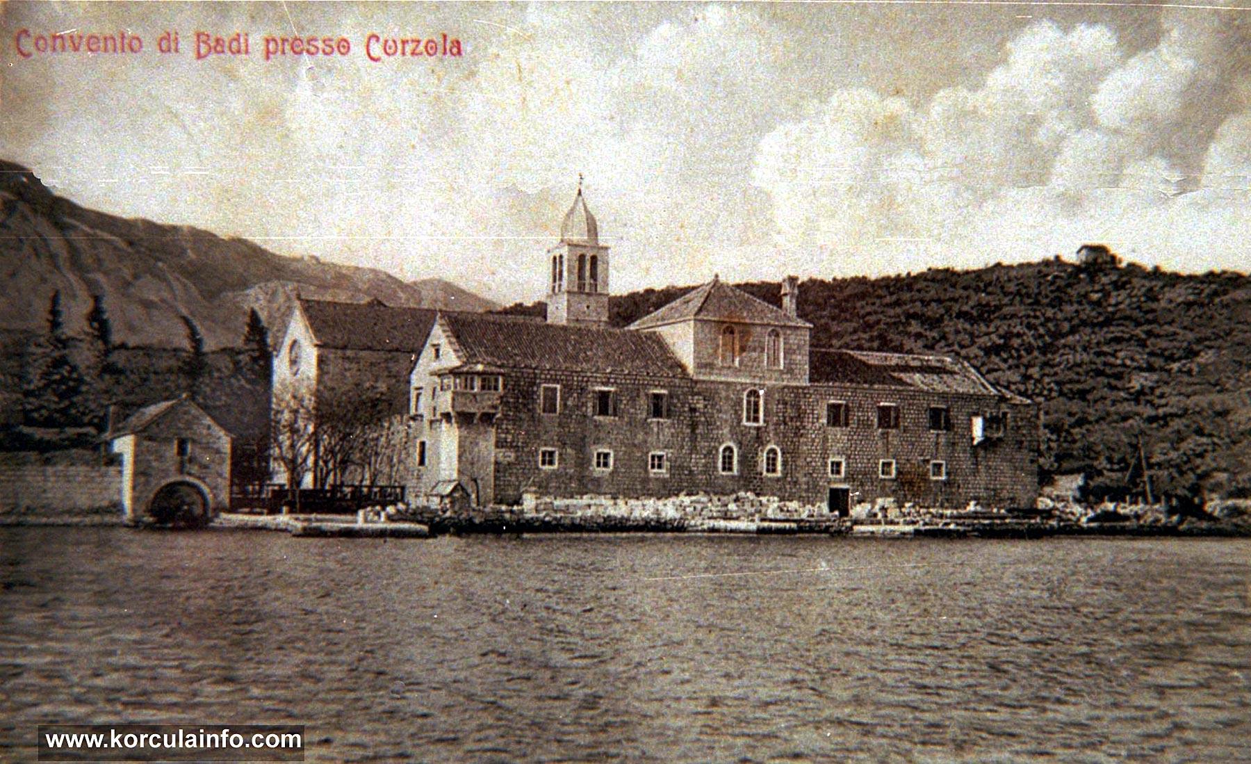Franciscan Monastery Badija - Photo from Early 1900s
