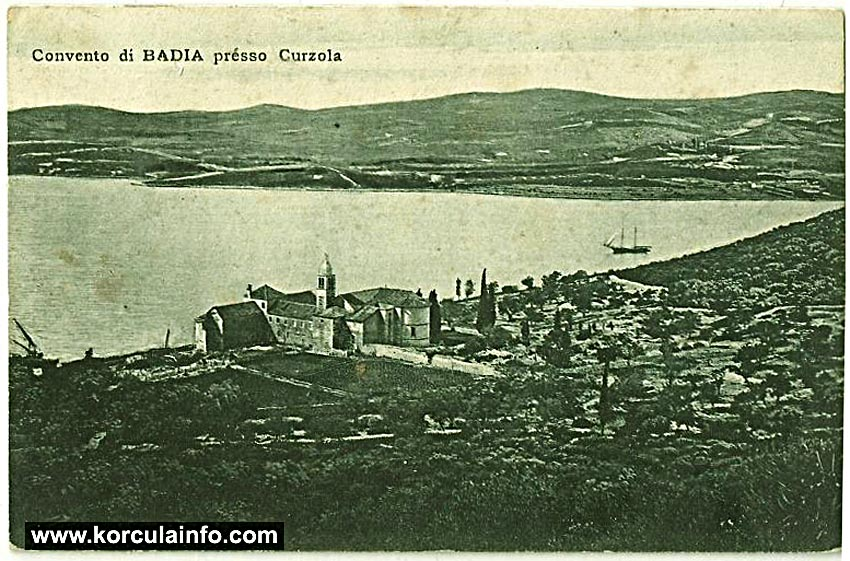 Panorama of Badija and Monastery - early 1900s