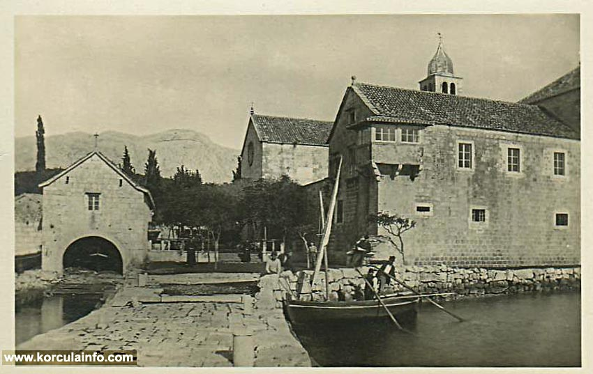 Fisherman in Badija in 1910s