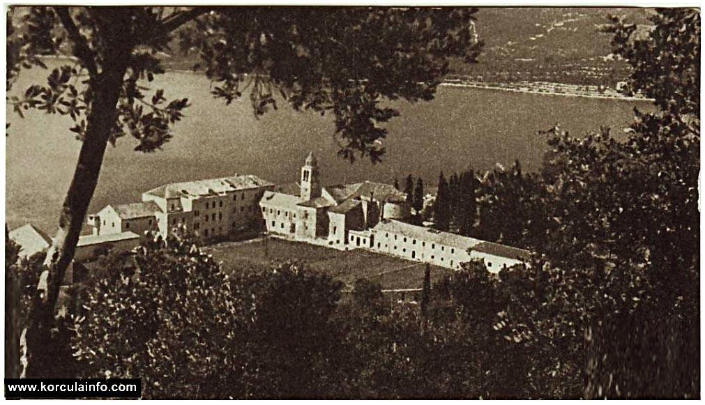 The Monastery Complex on Badija in 1959