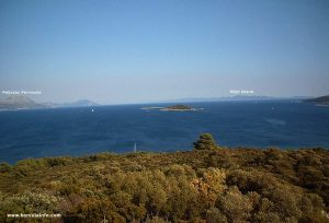 Views over Peljesac to Mljet (from Badija)