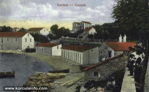 Views over Banje, Korcula in 1910