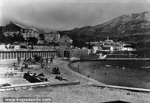 Views over Korcula Town and KPK pool - Banje in 1961