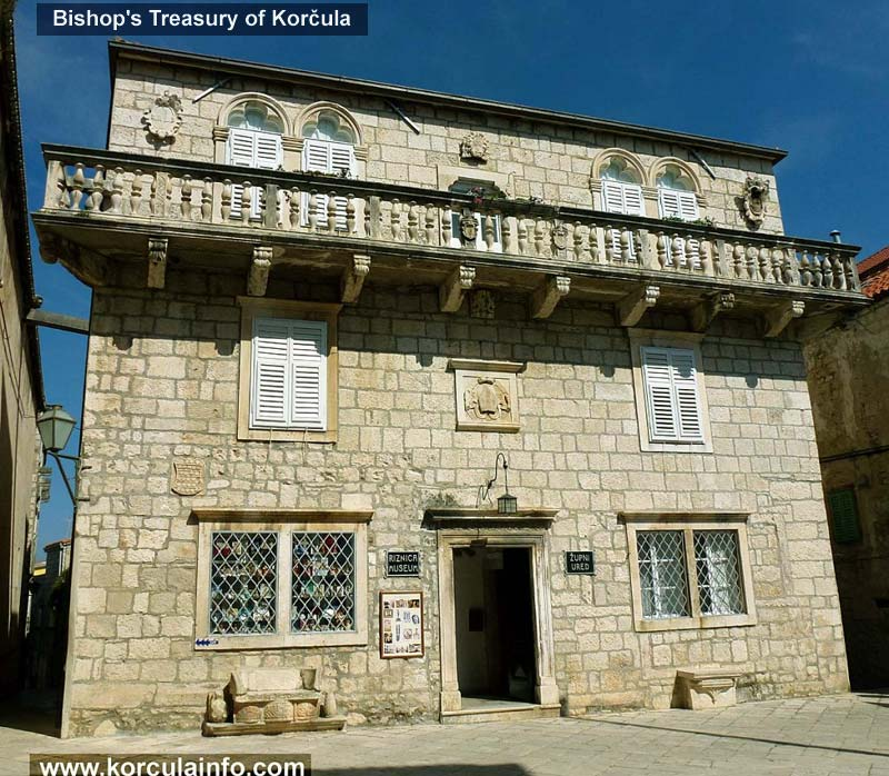Bishop's Treasury of Korcula - Facade