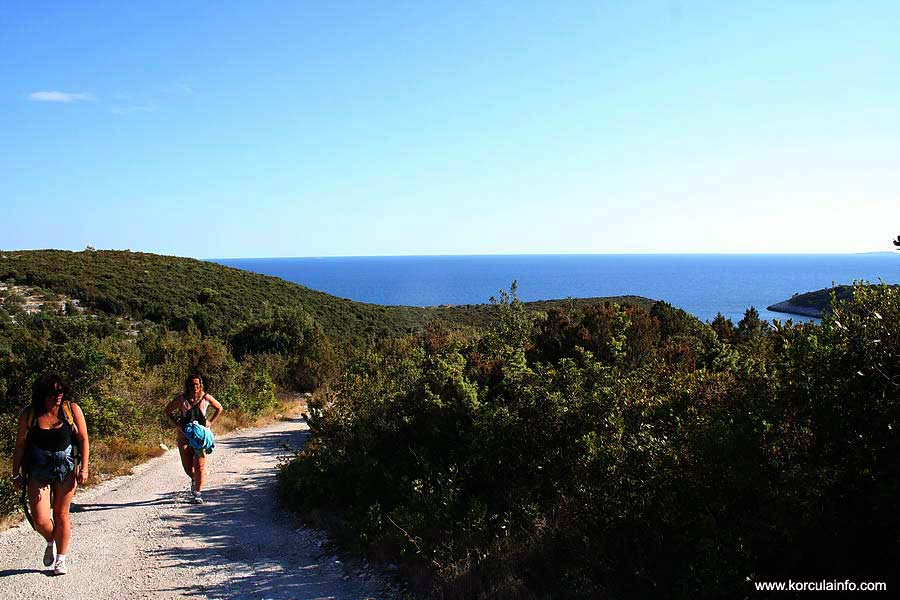 Hiking to Defora, Korcula