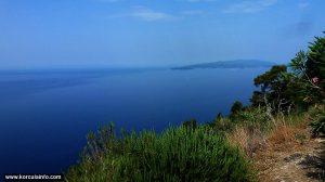 Korcula island viewed from Dingac, Peljesac