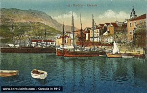 Port of Korcula (Riva) in 1917