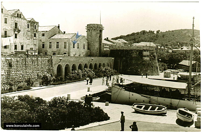 Riva - Korcula in 1950s