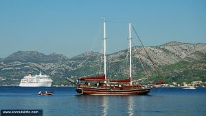 Various boats and ships in Korcula port