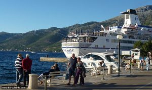 Port of Korcula in summer 2012
