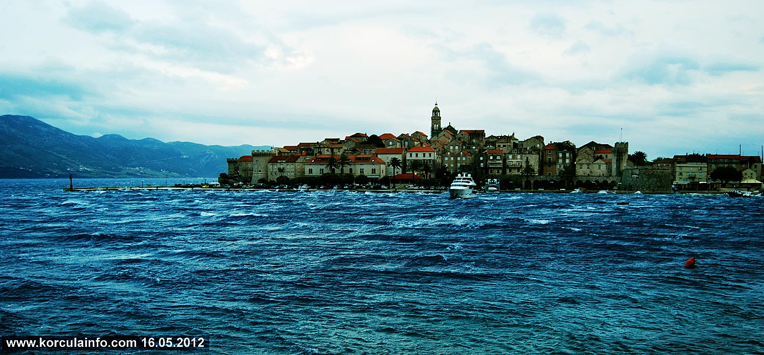 Very Cold Day in Korcula