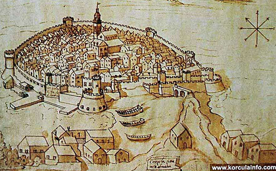 korcula-town-walls1500s