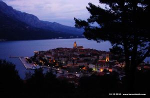 Winter Dusk in Korcula Town