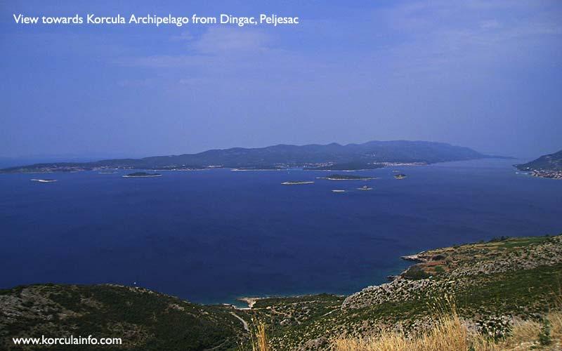 Views from Peljesac over Skoji - The Korcula Arhipelago