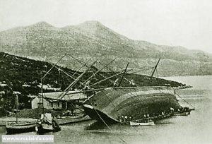 Repairing Large Schooner in Korcula in 1920s