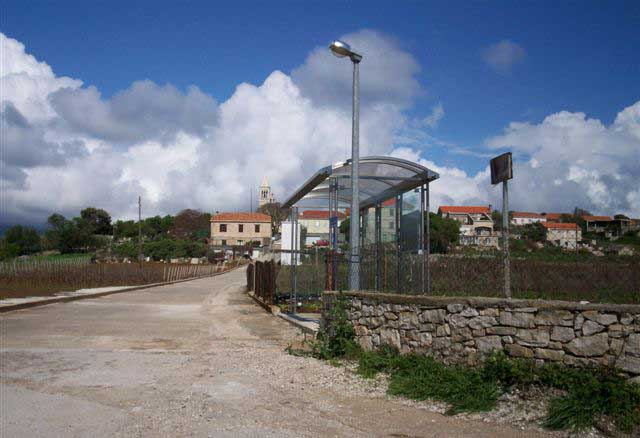 New bus shelters at Lumbarda Bus Stop