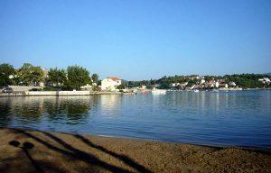 Views over Koludert suburb from Prvi Zal beach