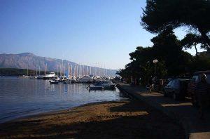 Views over marina from Prvi Zal beach