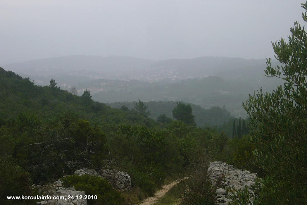 Misty views over Lumbarda