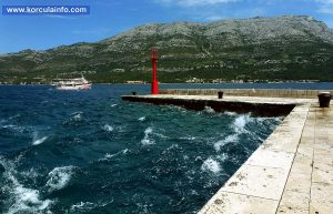 Wind Maestral in Korcula port (Puntin)